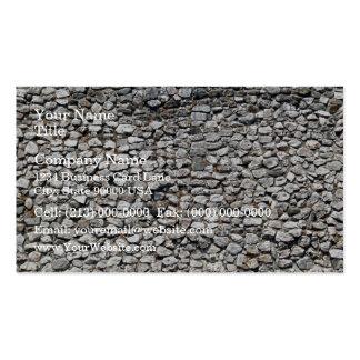 Texture de motif de mur de pierres irrégulier carte de visite standard