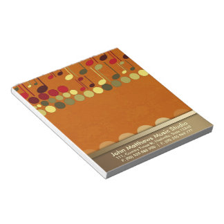 Texture de notes musicales Personnaliser-il bloc - Blocs Notes