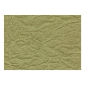 Texture de papier froissée par vert de ressort carte de visite grand format