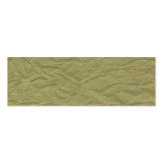 Texture de papier froissée par vert de ressort carte de visite petit format