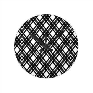 Texture de rayures horloge ronde