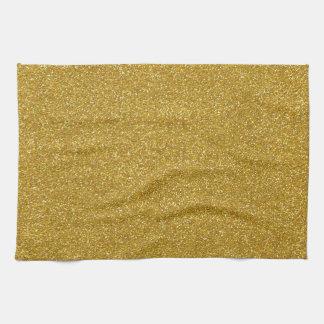 Texture de scintillement d'or serviettes éponge