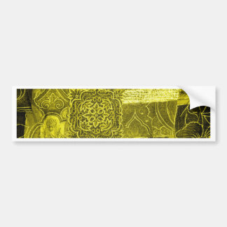 Texture de tissu de patchwork de vert jaune autocollant pour voiture