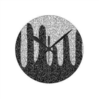 Texture décorative horloge ronde
