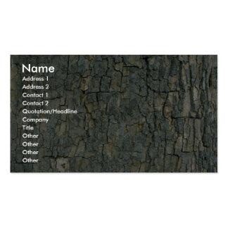 Texture d'écorce d'arbre carte de visite standard