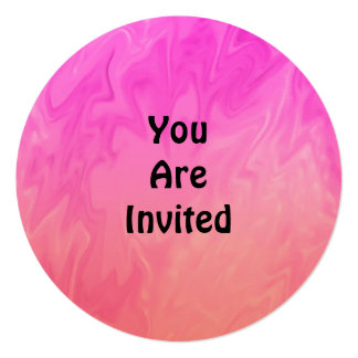 Texture d'orange de rose d'invitation de partie carton d'invitation  13,33 cm