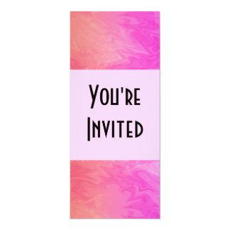 Texture d'orange de rose d'invitation de partie carton d'invitation  10,16 cm x 23,49 cm