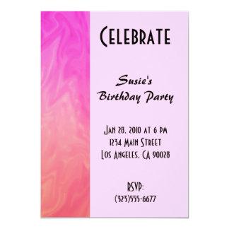 Texture d'orange de rose d'invitation de partie carton d'invitation  12,7 cm x 17,78 cm