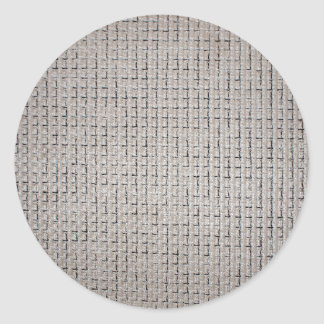 Texture du tissu gris des filaments épais sticker rond