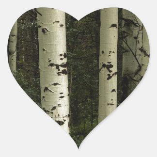 Texture d'un portrait de forêt sticker cœur