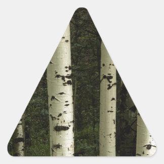 Texture d'un portrait de forêt sticker triangulaire