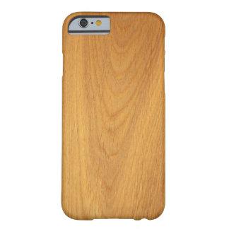 Texture élégante de photo de grain en bois de chên coque iPhone 6 barely there