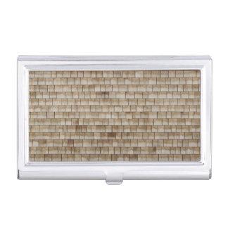 texture en bois beige grunge de mur boîtier pour cartes de visite