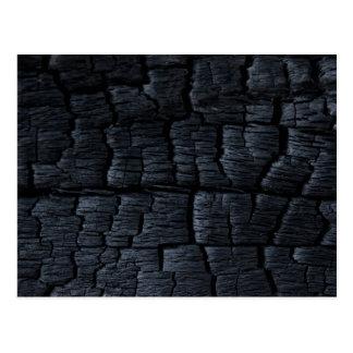 Texture en bois brûlée cartes postales