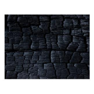 Texture en bois brûlée de Faux Cartes Postales