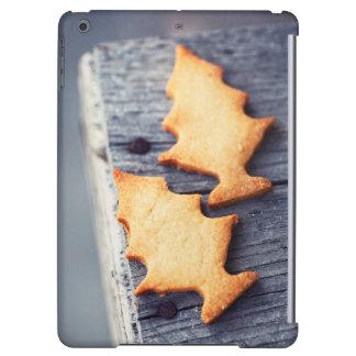 Texture en bois d'arbre de Noël de biscuits de