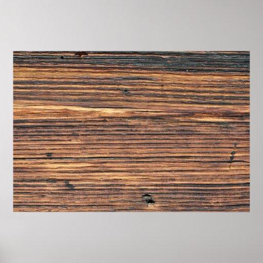 Texture en bois de Brown Posters