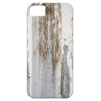 Texture en bois de mur de vieille peinture blanche coques Case-Mate iPhone 5