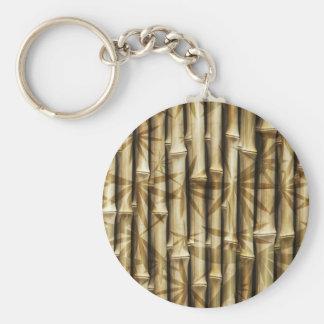 Texture en bois en bambou porte-clé rond