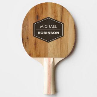 Texture en bois moderne personnalisée de grain raquette tennis de table