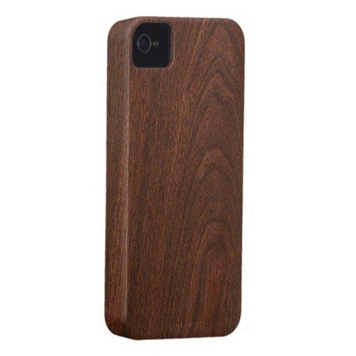 Texture en bois rouge coques iphone 4 case mate zazzle for Case en bois