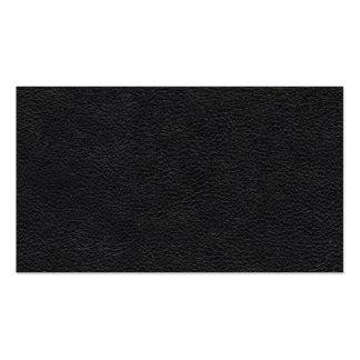 Texture en cuir noire carte de visite standard