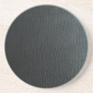 Texture en cuir noire de Faux Dessous De Verre