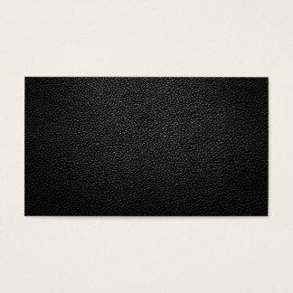 Texture en cuir noire pour l'arrière - plan cartes de visite