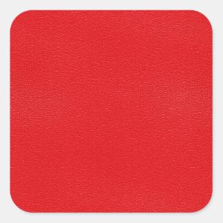 Texture en cuir rouge magnifique sticker carré