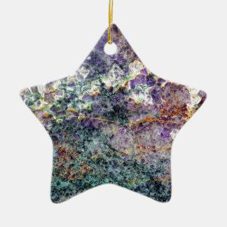 texture en pierre 2.JPG d'améthyste Ornement Étoile En Céramique