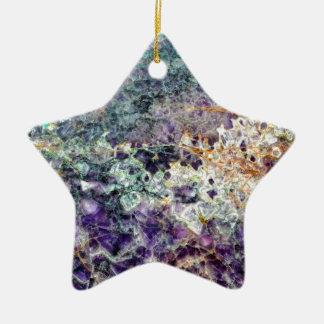 texture en pierre 3.JPG d'améthyste Ornement Étoile En Céramique