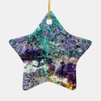 texture en pierre 4.JPG d'améthyste Ornement Étoile En Céramique