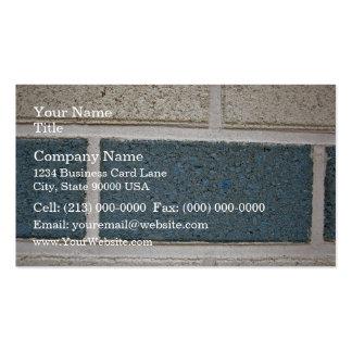 Texture en pierre blanche bleue de mur de briques carte de visite standard