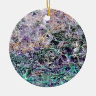 texture en pierre d'améthyste ornement rond en céramique
