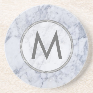 Texture en pierre de marbre blanche et grise de dessous de verres