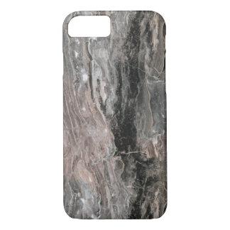 Texture en pierre de marbre foncée et gris-clair coque iPhone 7