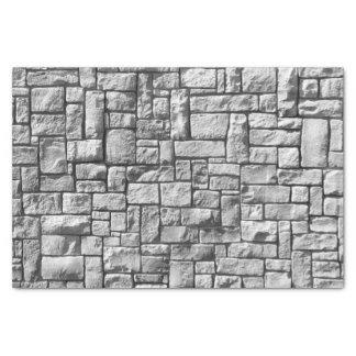 Texture en pierre grise de mur de briques papier mousseline