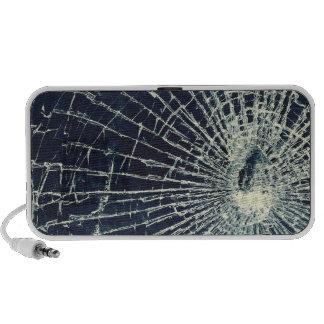 Texture en verre cassée mini haut-parleurs
