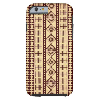 Texture ethnique de Brown Coque Tough iPhone 6