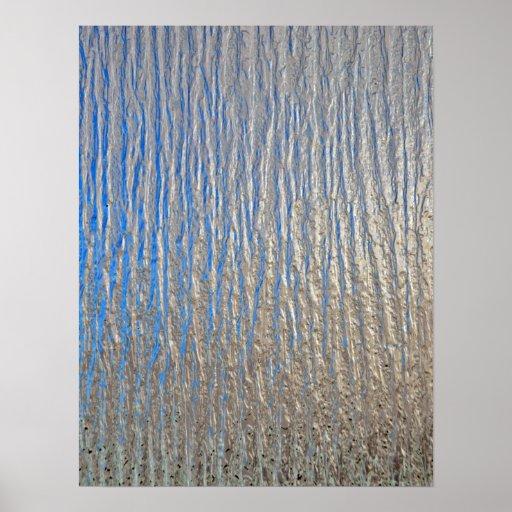 Texture extérieure brillante avec gris et bleu posters