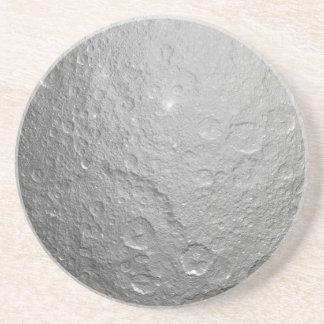 Texture extérieure de lune dessous de verres