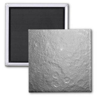 Texture extérieure de lune magnet carré
