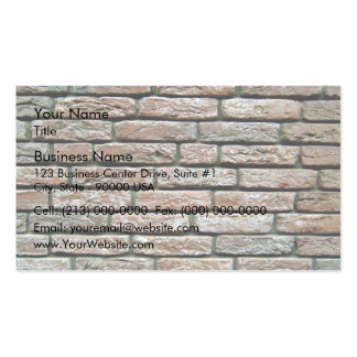 Texture fanée de brique carte de visite