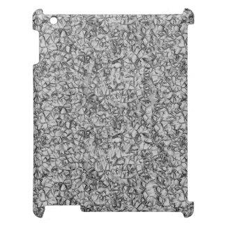 texture géométrique moderne grise abstraite de coque iPad