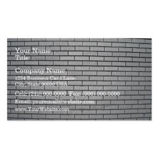 Texture grise de mur de briques cartes de visite personnelles
