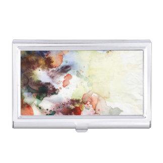 Texture grunge d'aquarelle abstraite avec la étuis pour cartes de visite