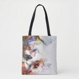 Texture grunge d'aquarelle abstraite avec la sac
