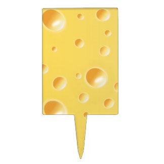 Texture jaune de fromage suisse pique à gâteau