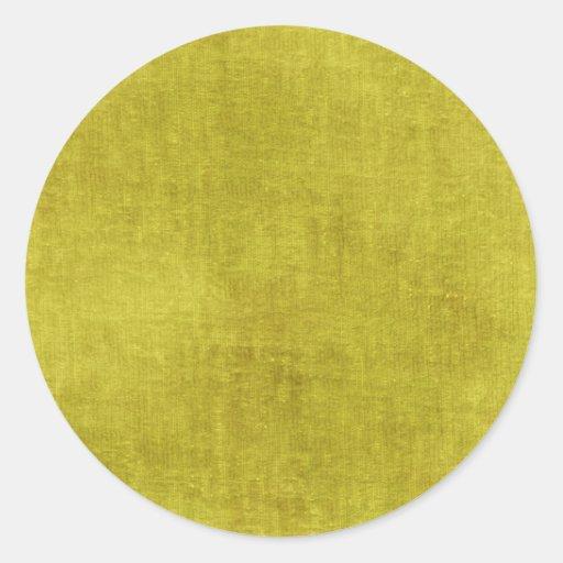 Texture jaune de tissu de Chenille Adhésif Rond