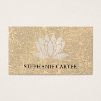 Texture marbrée de fleur de Lotus Cartes De Visite